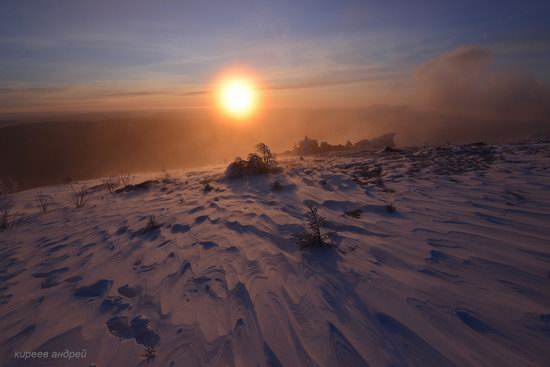 Frosty dawn in Taganay National Park, Russia, photo 11