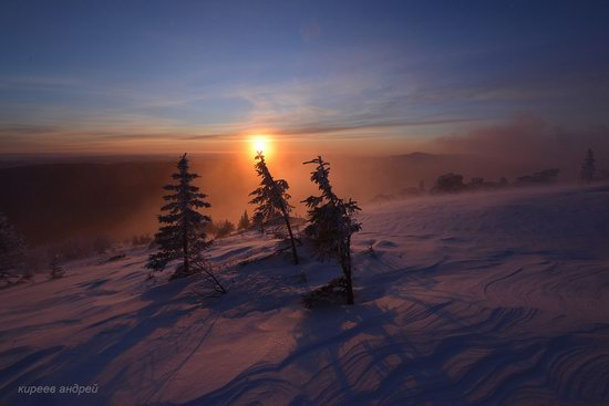 Frosty dawn in Taganay National Park, Russia, photo 14
