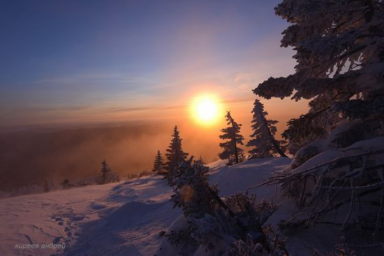 Frosty dawn in Taganay National Park, Russia, photo 15