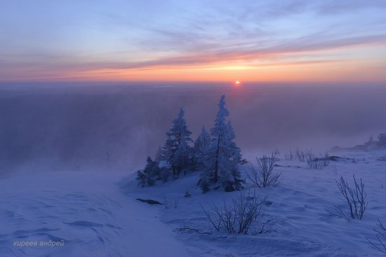Frosty dawn in Taganay National Park, Russia, photo 2