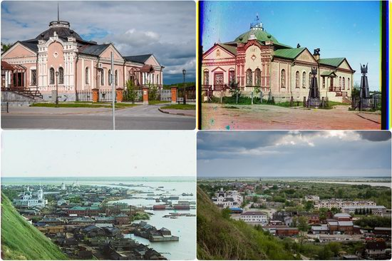 Tobolsk in 1912 and 2018, Russia, photo 1