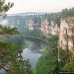 Bolshiye Pritesy Cliff in the Chelyabinsk Region