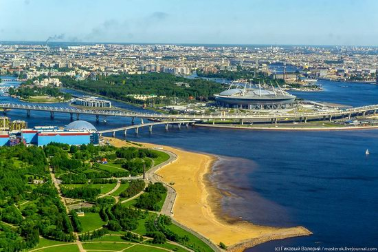 St. Petersburg, Russia from the highest observation deck in Europe, photo 2