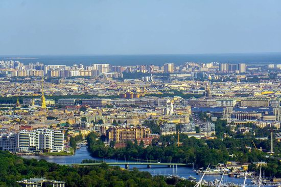 St. Petersburg, Russia from the highest observation deck in Europe, photo 24