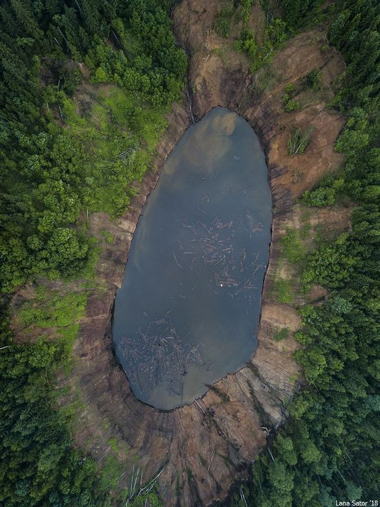 Sinkholes in Berezniki city, Perm region, Russia, photo 3