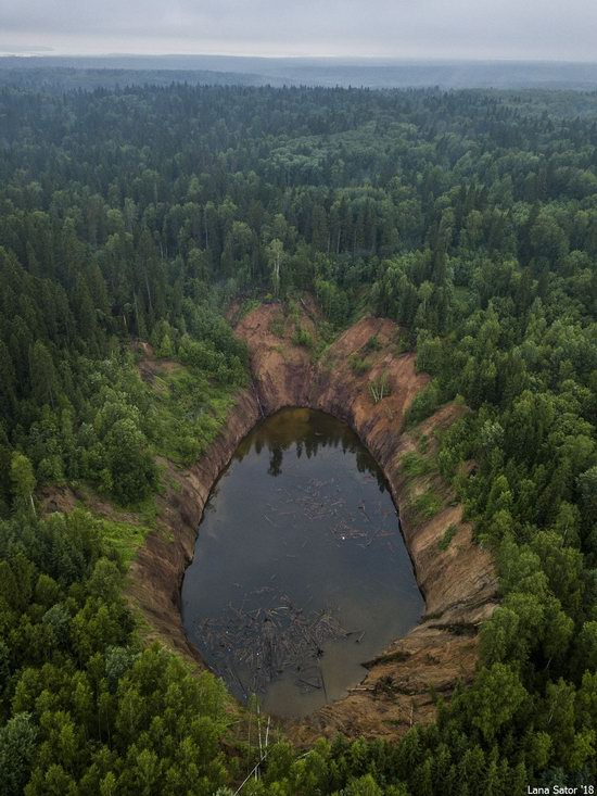 Sinkholes in Berezniki city, Perm region, Russia, photo 4