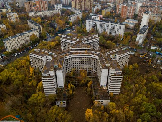 Abandoned Khovrino Hospital, Moscow, Russia, photo 2