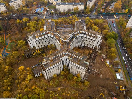 Abandoned Khovrino Hospital, Moscow, Russia, photo 5