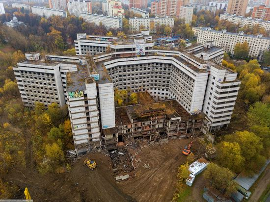 Abandoned Khovrino Hospital, Moscow, Russia, photo 7