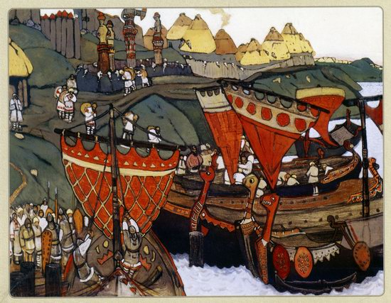 Brief History of Russia - Ancient Russians at Dnieper by Nicholas Roerich