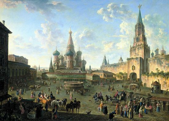 Brief History of Russia - Red Square in Moscow by Fedor Alekseev