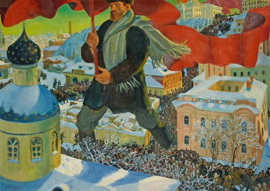Brief History of Russia - Bolshevik by Boris Kustodiev