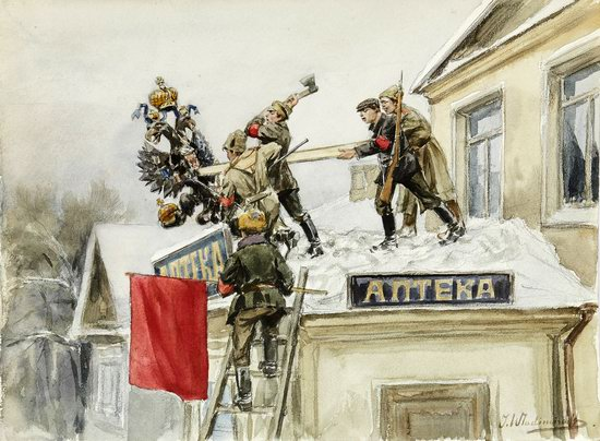 Russia in 1917-1919 - the Paintings of Ivan Vladimirov, picture 1