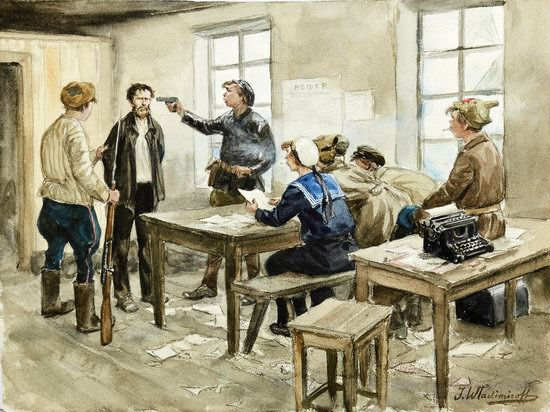 Russia in 1917-1919 - the Paintings of Ivan Vladimirov, picture 10