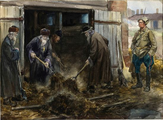 Russia in 1917-1919 - the Paintings of Ivan Vladimirov, picture 11