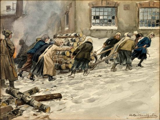 Russia in 1917-1919 - the Paintings of Ivan Vladimirov, picture 12