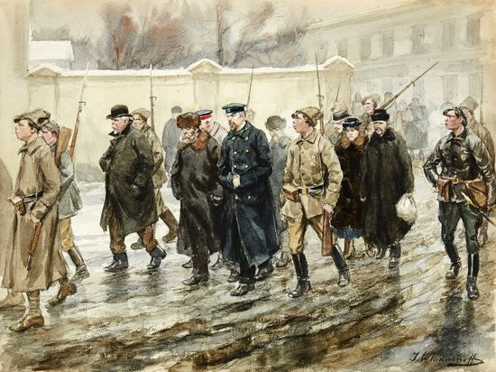 Russia in 1917-1919 - the Paintings of Ivan Vladimirov, picture 13