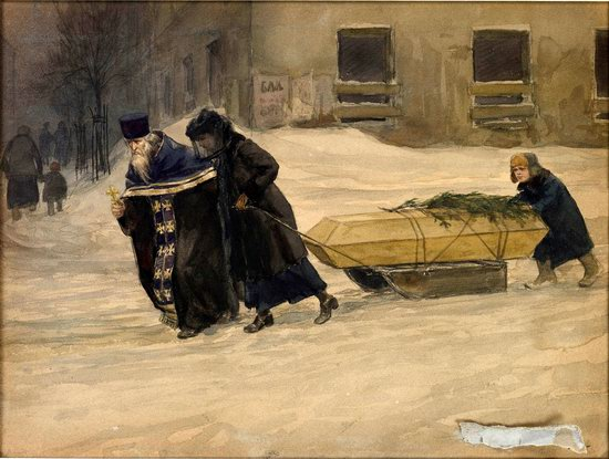 Russia in 1917-1919 - the Paintings of Ivan Vladimirov, picture 15