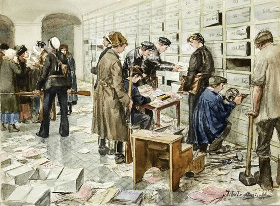 Russia in 1917-1919 - the Paintings of Ivan Vladimirov, picture 16