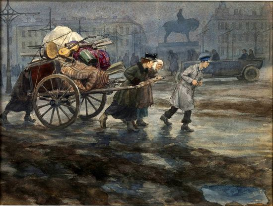 Russia in 1917-1919 - the Paintings of Ivan Vladimirov, picture 18