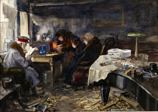 Russia in 1917-1919 - the Paintings of Ivan Vladimirov, picture 19