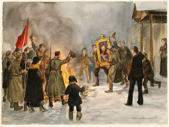 Russia in 1917-1919 - the Paintings of Ivan Vladimirov, picture 2