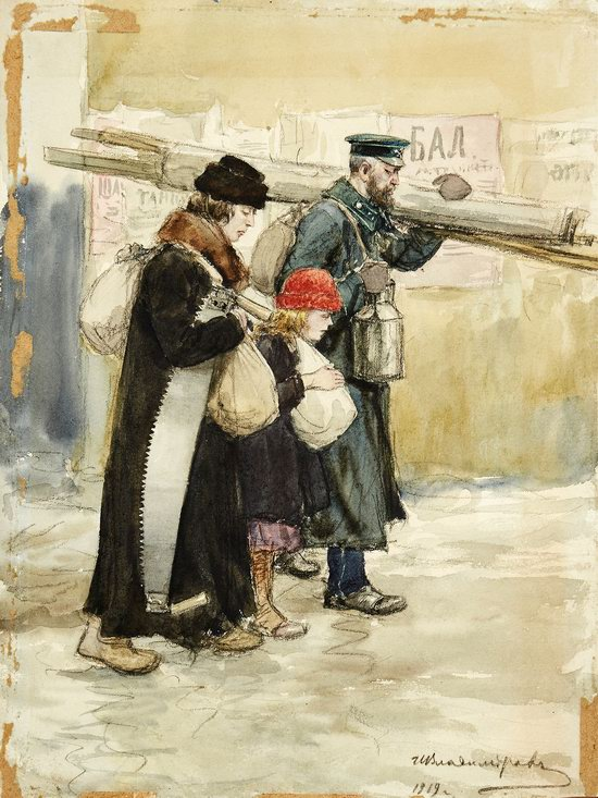 Russia in 1917-1919 - the Paintings of Ivan Vladimirov, picture 20