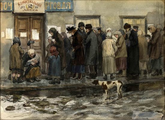 Russia in 1917-1919 - the Paintings of Ivan Vladimirov, picture 21