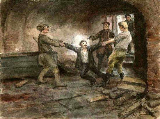 Russia in 1917-1919 - the Paintings of Ivan Vladimirov, picture 22