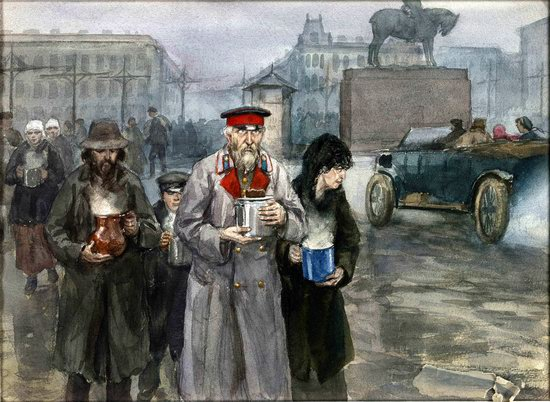 Russia in 1917-1919 - the Paintings of Ivan Vladimirov, picture 24