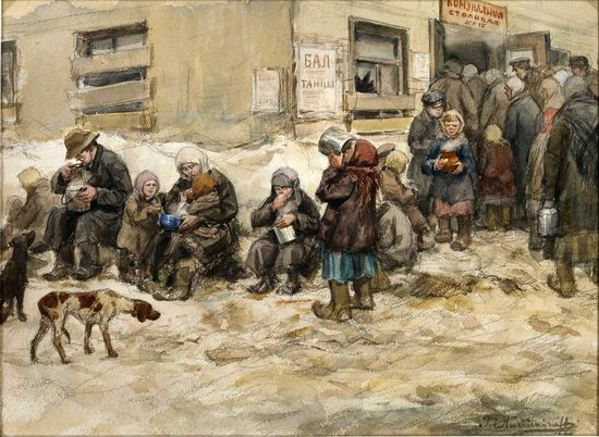 Russia in 1917-1919 - the Paintings of Ivan Vladimirov, picture 25