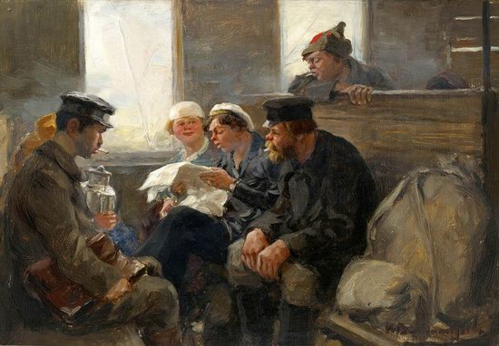 Russia in 1917-1919 - the Paintings of Ivan Vladimirov, picture 26