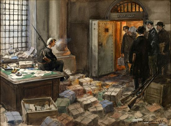 Russia in 1917-1919 - the Paintings of Ivan Vladimirov, picture 27