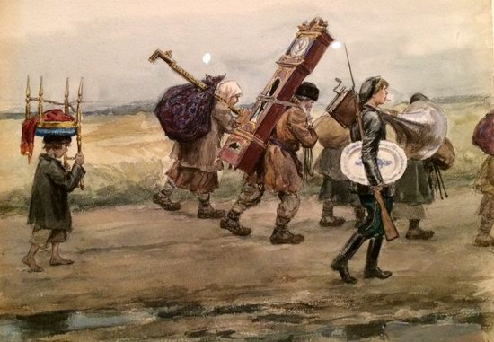 Russia in 1917-1919 - the Paintings of Ivan Vladimirov, picture 28