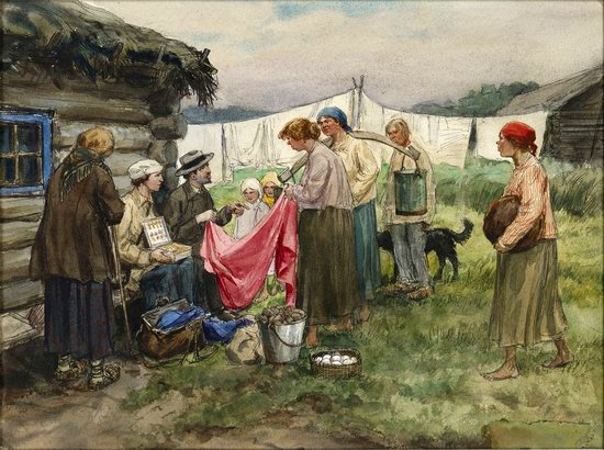 Russia in 1917-1919 - the Paintings of Ivan Vladimirov, picture 29