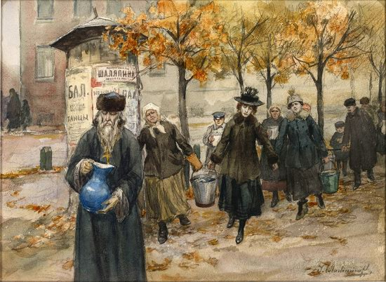 Russia in 1917-1919 - the Paintings of Ivan Vladimirov, picture 30