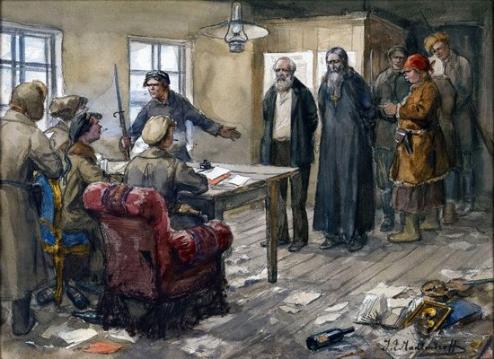 Russia in 1917-1919 - the Paintings of Ivan Vladimirov, picture 32
