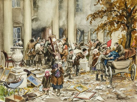 Russia in 1917-1919 - the Paintings of Ivan Vladimirov, picture 34