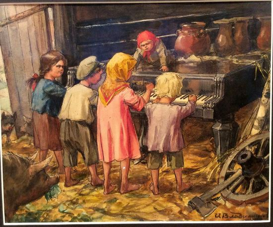 Russia in 1917-1919 - the Paintings of Ivan Vladimirov, picture 35