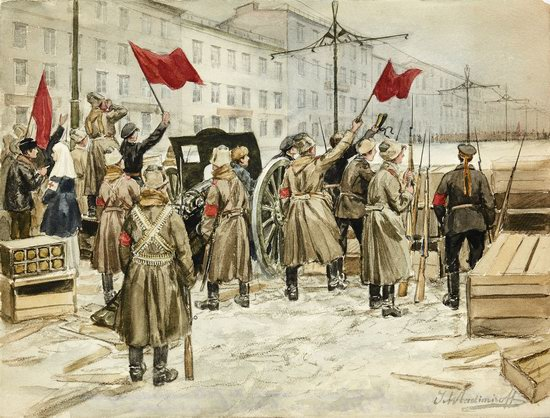 Russia in 1917-1919 - the Paintings of Ivan Vladimirov, picture 5