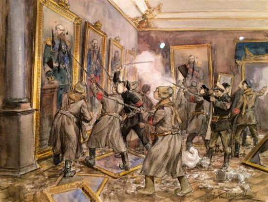 Russia in 1917-1919 - the Paintings of Ivan Vladimirov, picture 7