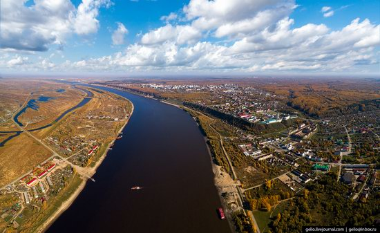 Tobolsk, Russia from above, photo 14
