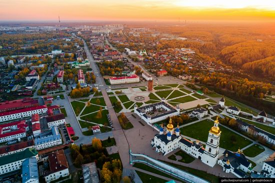 Tobolsk, Russia from above, photo 16