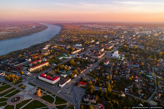 Tobolsk, Russia from above, photo 18