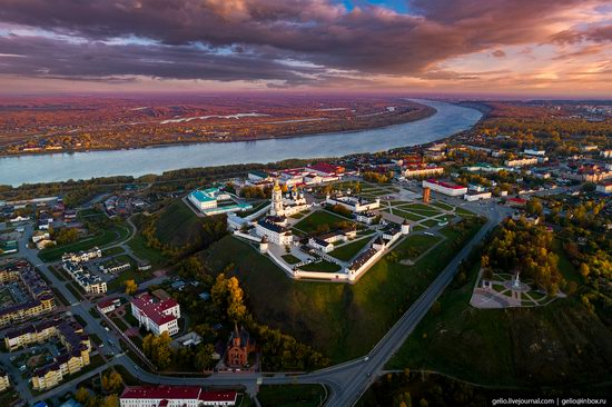 Tobolsk, Russia from above, photo 3