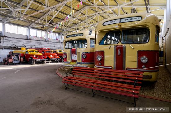 Soviet retro vehicles in the Moscow Transport Museum, Russia, photo 1