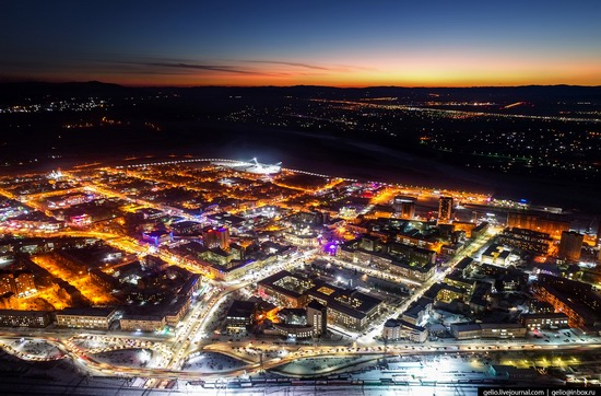 Ulan-Ude, Russia - the view from above, photo 2