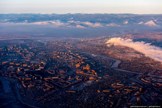 Ulan-Ude, Russia - the view from above, photo 21