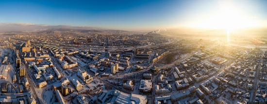 Ulan-Ude, Russia - the view from above, photo 7