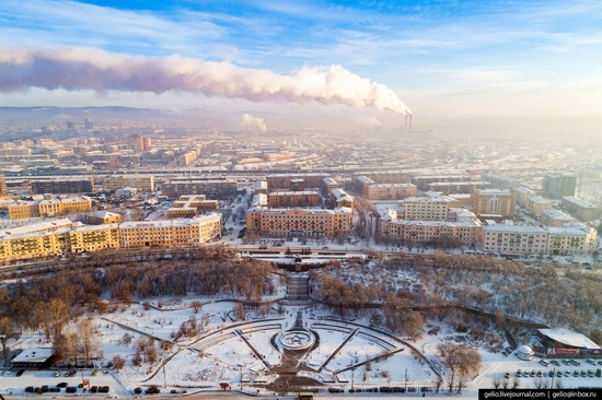 Ulan-Ude, Russia - the view from above, photo 8